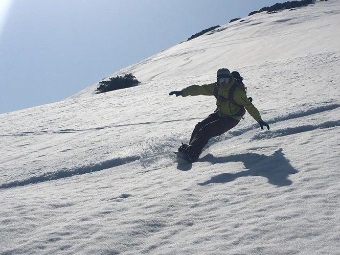 至仏山でのスノーボード