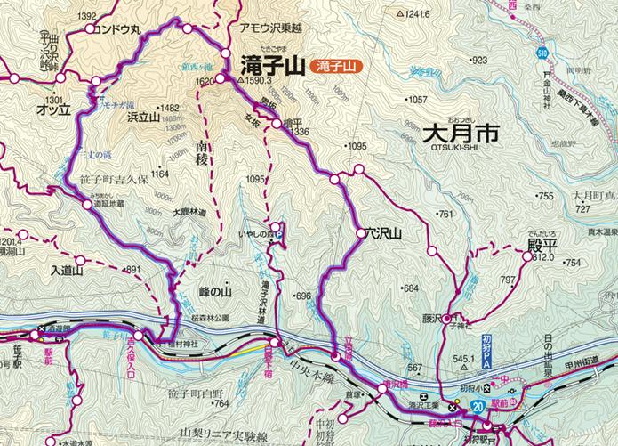 滝子山登山コースの画像