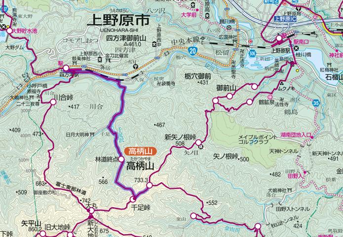 中央線四方津駅から行ける高柄山登山コース