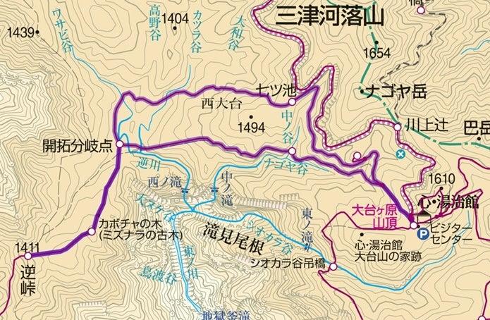 大台ヶ原山ルート図3