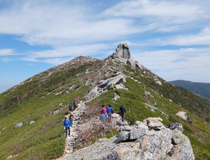 瑞牆山から金峰山登山コース中の画像