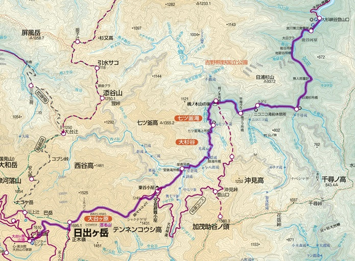 大台ヶ原山ルート図4