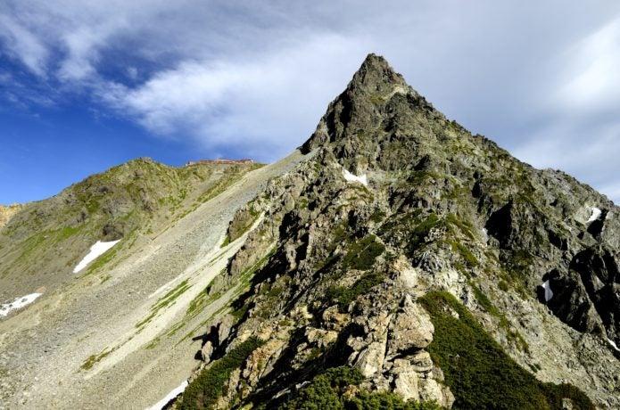 東鎌尾根から見た槍ヶ岳