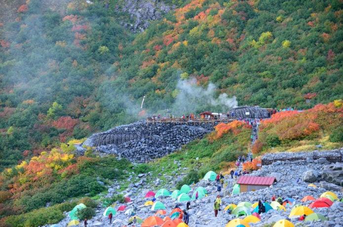 テント場の画像