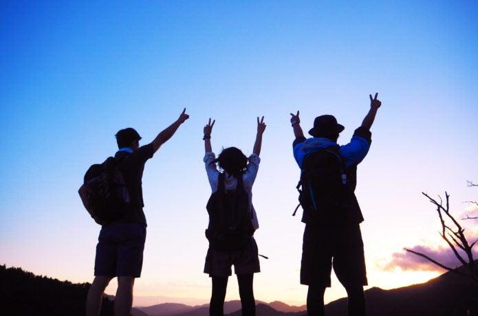 3人組の登山パーティ