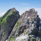 剱岳と登山者