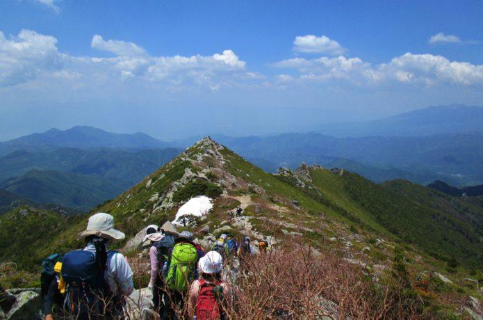 瑞牆山から金峰山のコースの画像