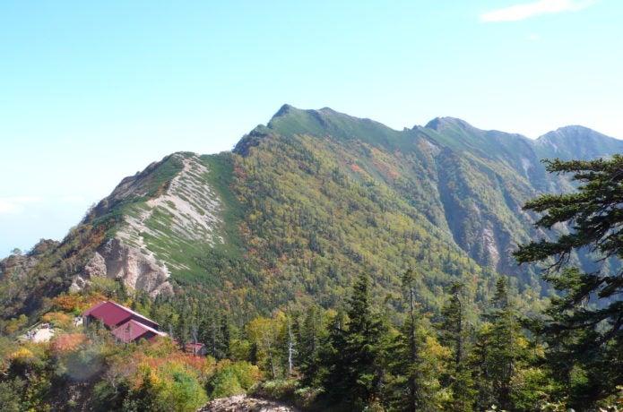 冷池山荘と爺ヶ岳