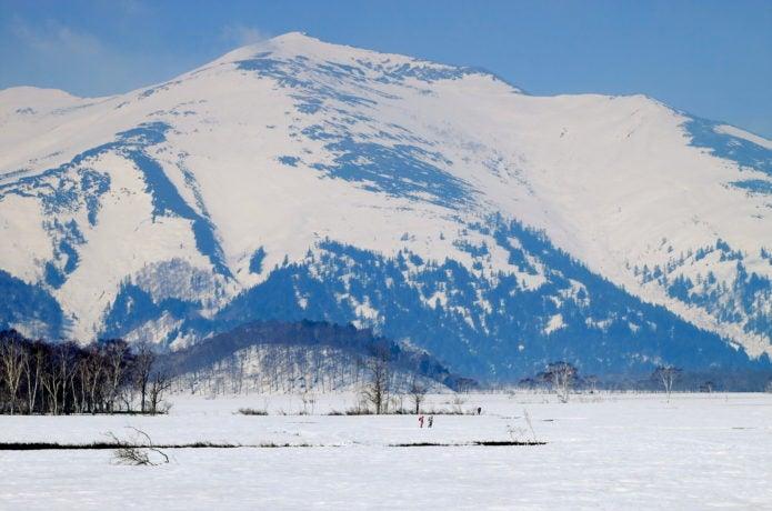 冬の至仏山の画像