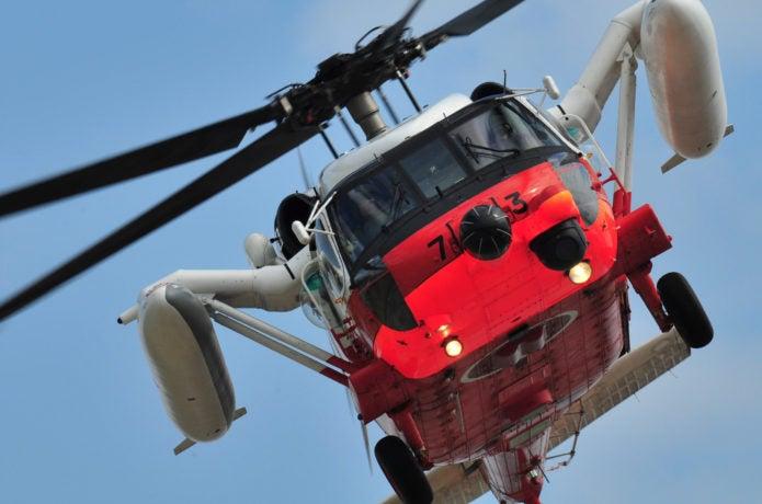 救助ヘリの画像