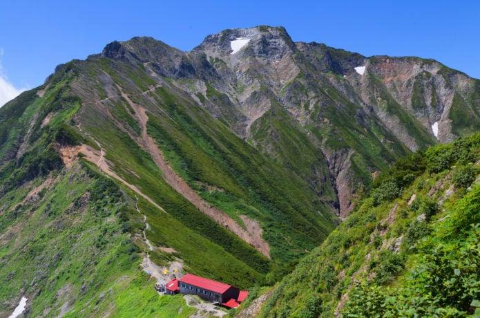 五竜岳と五竜山荘