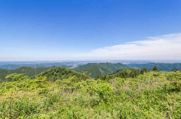 景信山山頂からの眺め