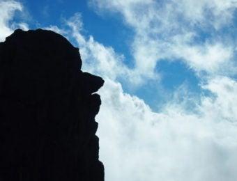 宝剣岳の天狗岩アップ