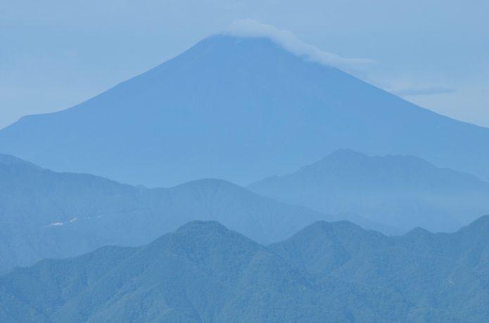 三国山からの富士山