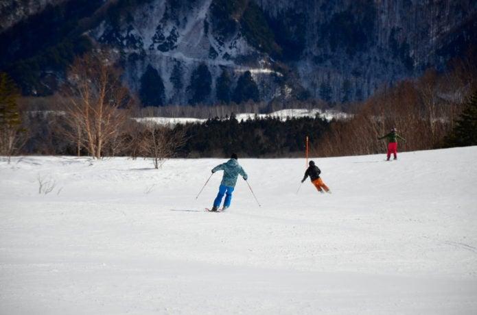 乗鞍高原のスキー場の画像