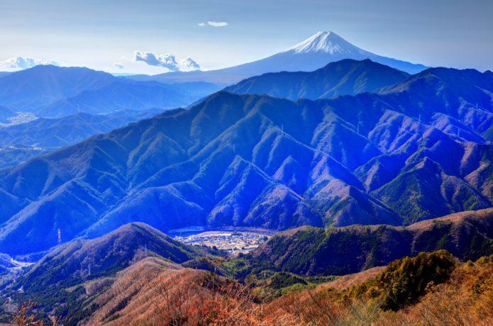 滝子山山頂からの眺め