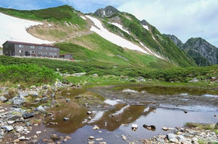夏の剣山荘と剱岳