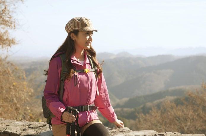 女性登山者