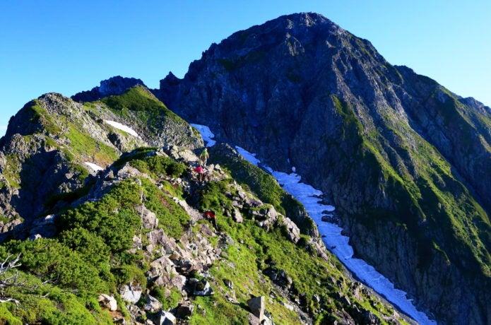剱岳へ向かう登山者