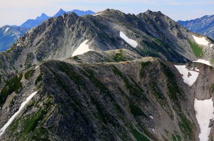 剱岳頂上から見る穂高連峰