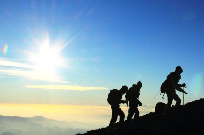 登山者のイメージ