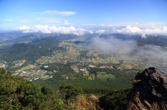 開聞岳山頂からの景色