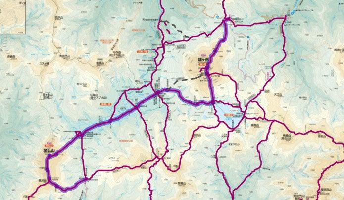 御池~至仏山登山コース画像