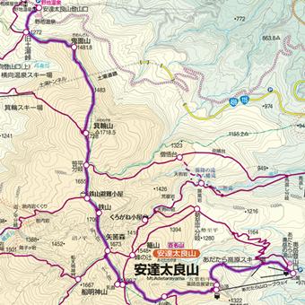 安達太良山~箕輪山~鬼面山登山コース