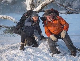 吹雪の中のビルとカッツ