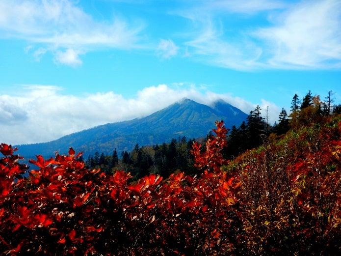 コース中に見える燧ヶ岳