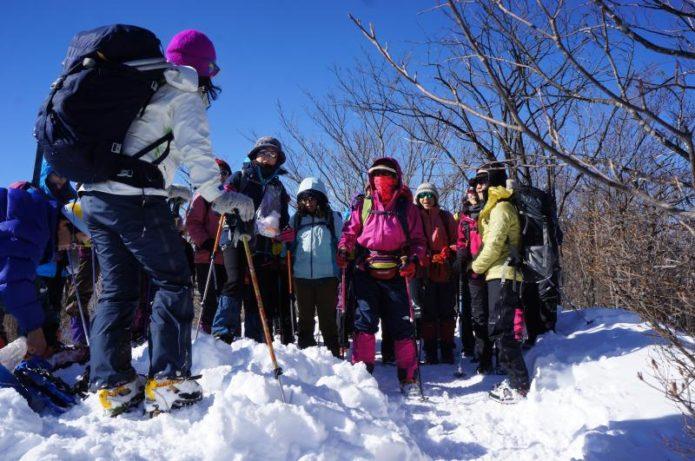 好日山荘の登山講習会