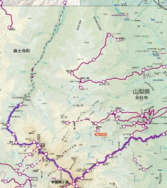 鋸岳・甲斐駒ヶ岳登山ルート