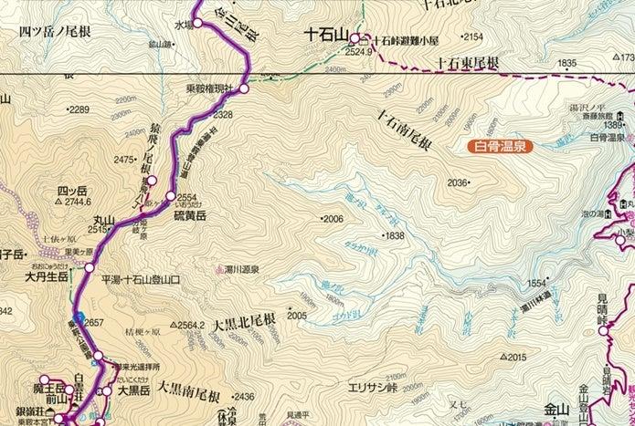 乗鞍岳新登山道コース図2