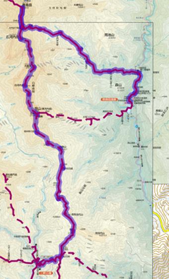 農鳥岳登山ルート