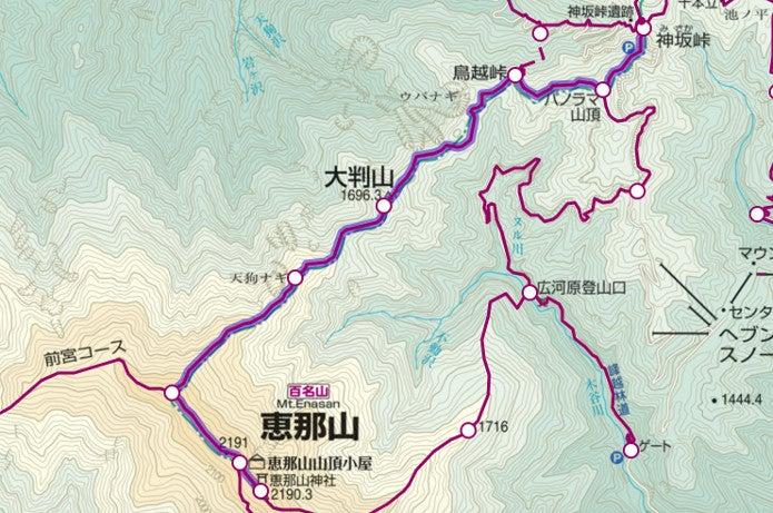 神坂峠ルート図