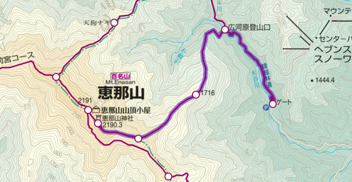 恵那山登山ルート①