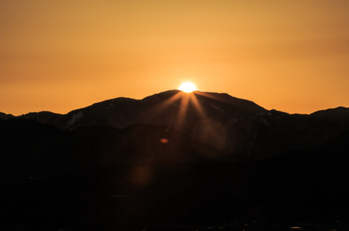 恵那山とご来光