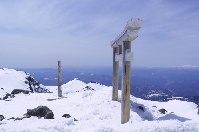冬の剣ヶ峰山頂