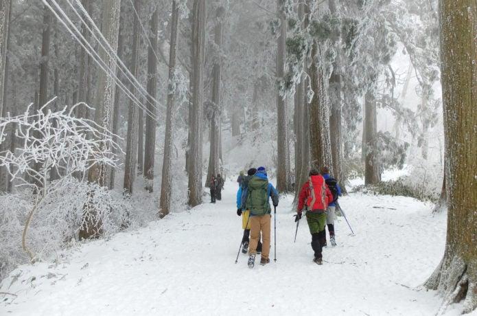はじめての雪山での登山講習会