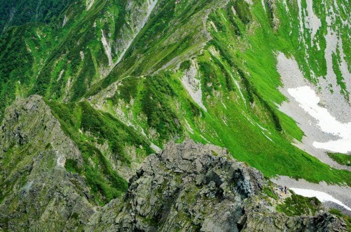 北穂高岳から見た大キレット