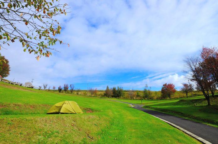 ソロテントinキャンプ場