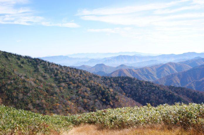 富士見林道から南会津の山々
