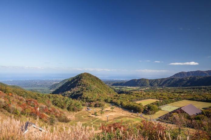 豪円山のろし台からの風景