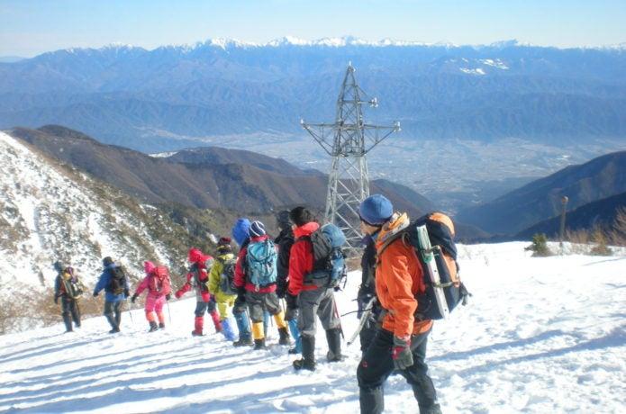 積雪期登山の格好
