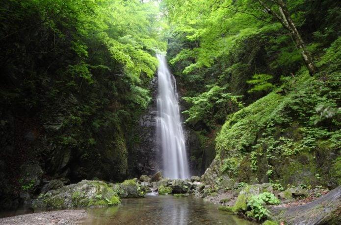 川苔山登山で見られる百尋の滝