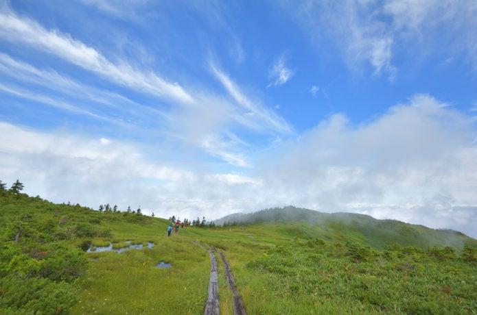 中門岳までのコース