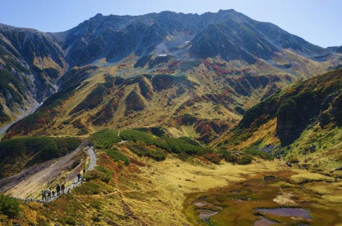 紅葉の立山三山