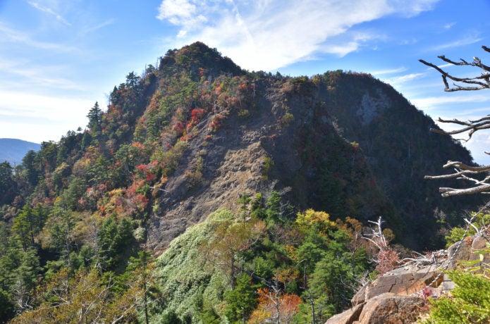 庚申山側から見る鋸山