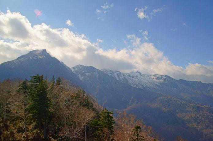 黒岳登山口から眺める大雪山系