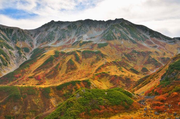 紅葉 立山三山